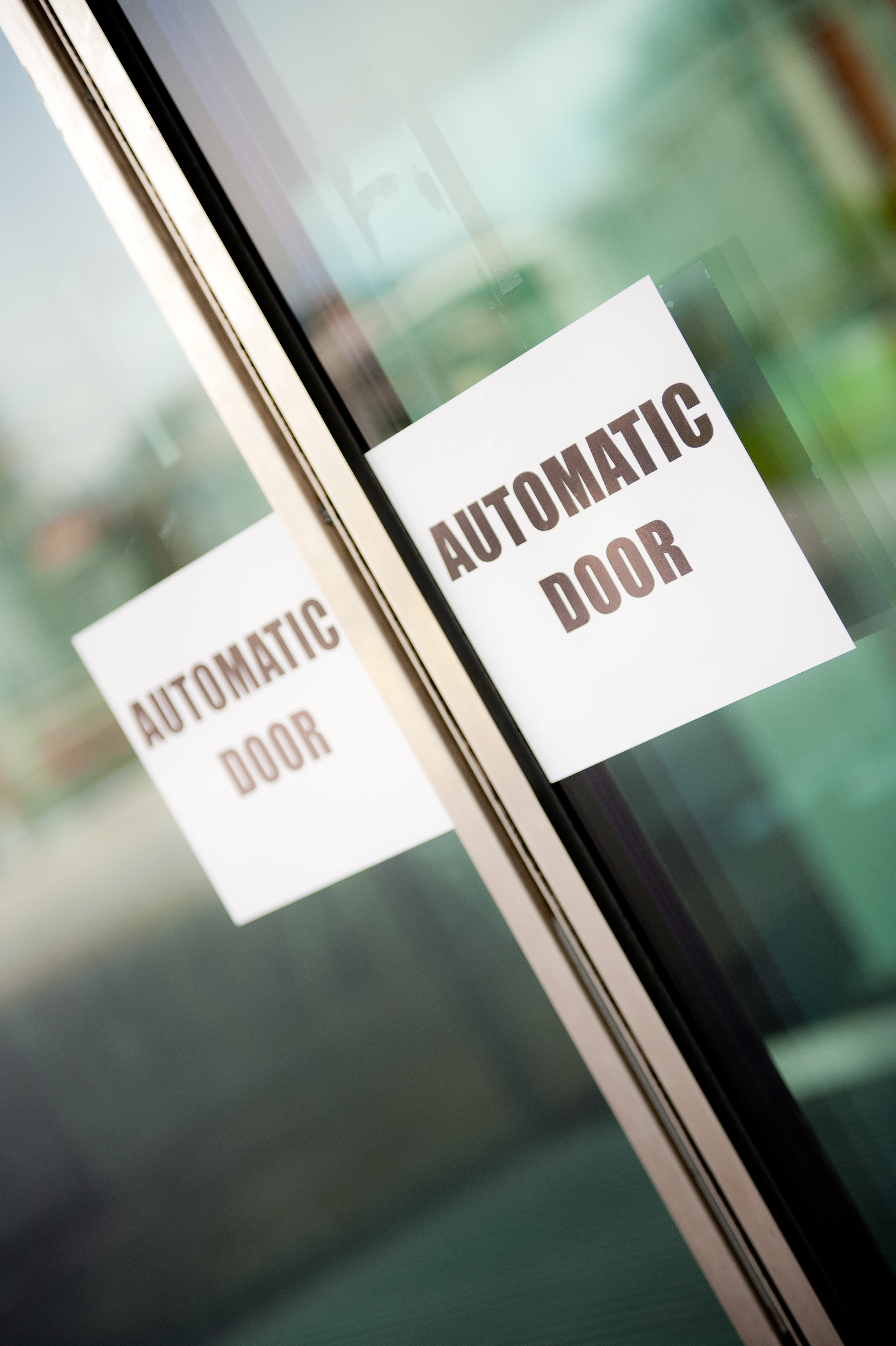 Automatic Door Signage Is It Required By Law The
