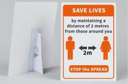 Save Lives Counter Strut Card