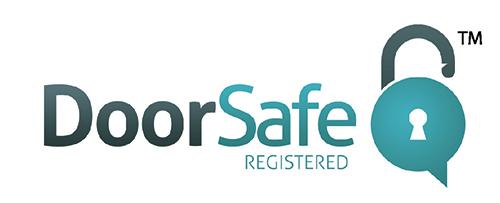 Door safe logo the automatic installation association